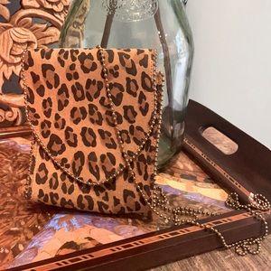 Vintage Nina Arjani Leopard Leather Bag